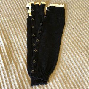 Black Leg warmers/ boot covers